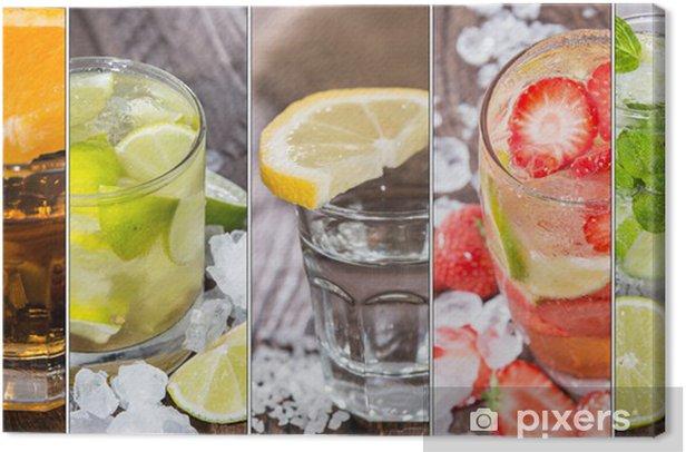 Cocktails Collage Canvas Print - Alcohol