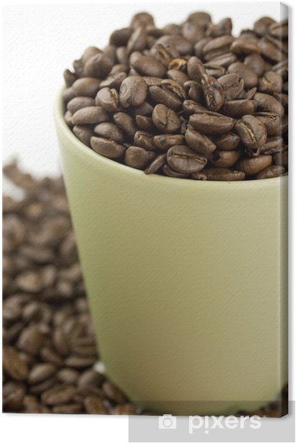 Coffee Cup Filled With Coffee Beans Canvas Print - Themes