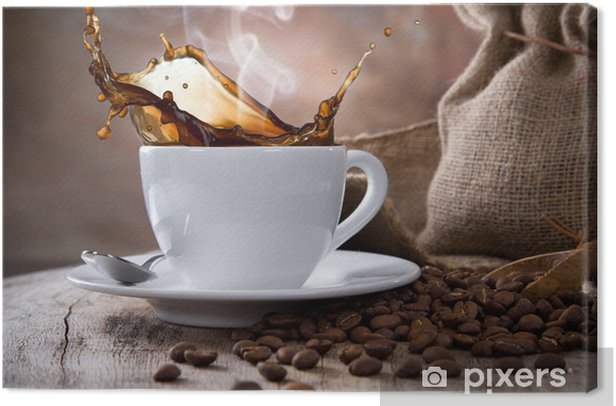 Coffee cup Canvas Print -