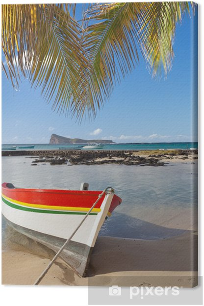 Coin de Mire, plage nord, île Maurice Canvas Print - Holidays