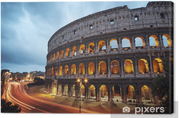 Coliseum at night. Rome - Italy Canvas Print -