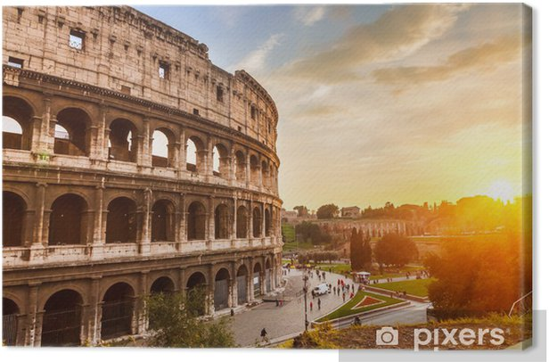 Coliseum at sunset Canvas Print - Italy