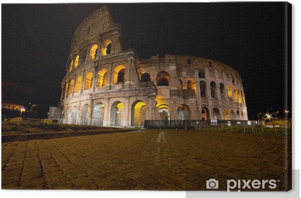 Coliseum by night, Rome Italy Canvas Print - Themes