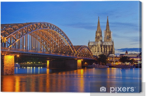 Cologne Cathedral and Hohenzollern Bridge Canvas Print - Germany