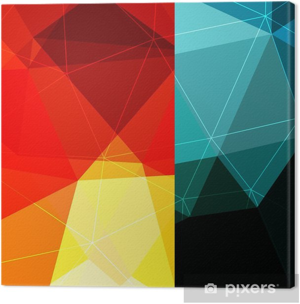 Color block background Canvas Print - Graphic Resources