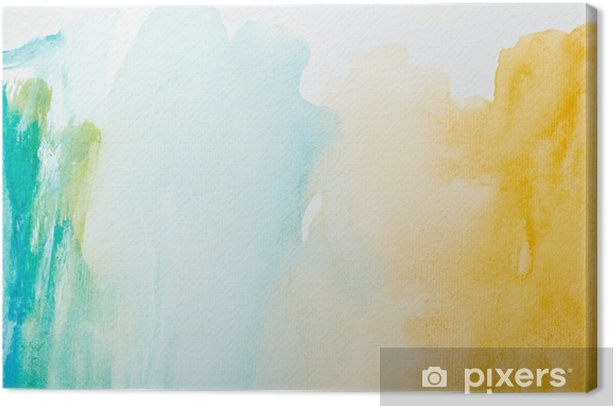 color strokes watercolor painting art Canvas Print - Styles