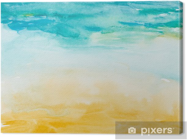color strokes watercolor painting art Canvas Print - Themes