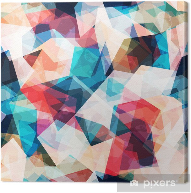colored mosaic seamless pattern with grunge effect Canvas Print - Styles