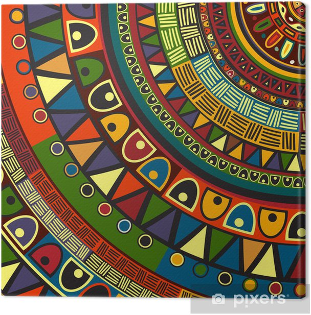 Colored tribal design Canvas Print - Styles