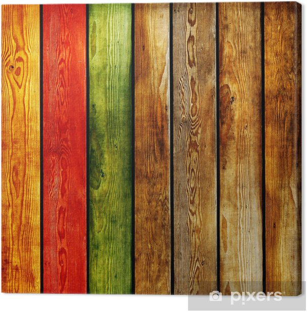 colored wooden planks -abstract background Canvas Print -