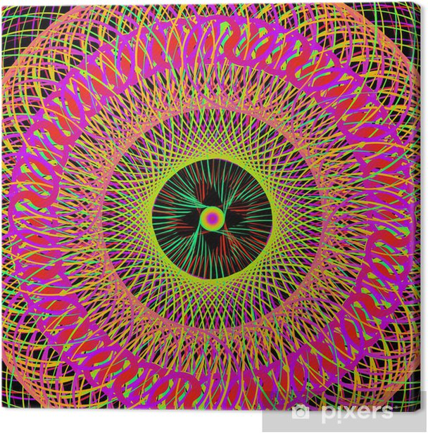 Colorful Abstract Psychedelic Art Background. Vector Illustratio Canvas Print - Themes