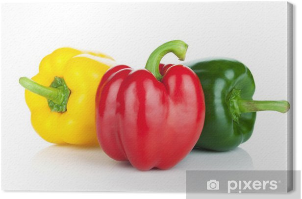 Colorful bell peppers Canvas Print - Vegetables