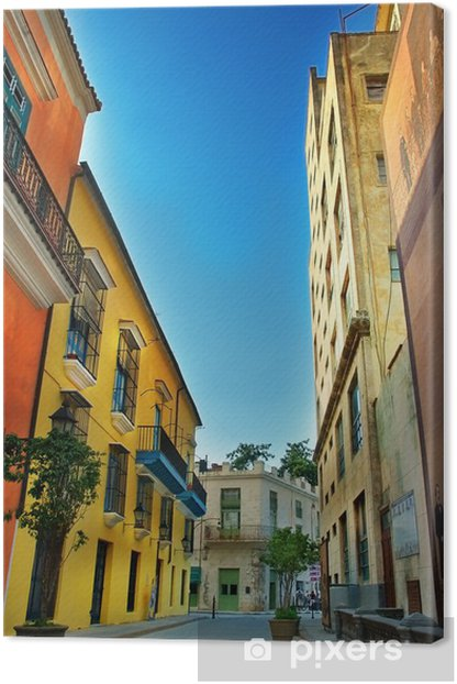 colorful facades of Havana city Canvas Print - Themes