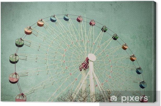 Ferris Wheel In Amusement Park F Art Print Home Decor Wall Art Poster