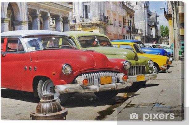 Colorful Havana cars Canvas Print - Destinations