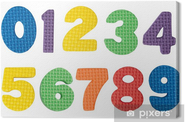 Colorful numbers Canvas Print - Education