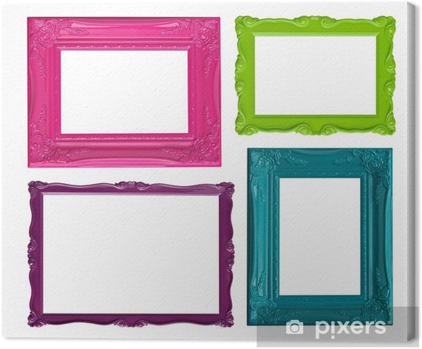 Colorful picture frames Canvas Print • Pixers® • We live to change