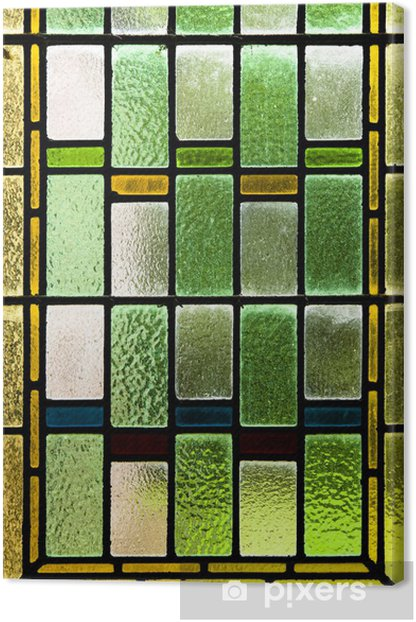 Colorful stained glass Canvas Print - Textures