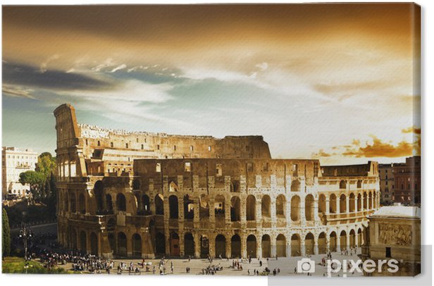 Colosseum in Rome, Italy Canvas Print - Themes