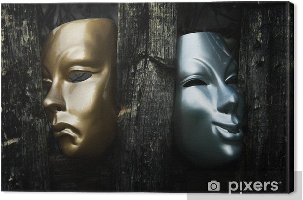Comedy and Tragedy - Drama Theater Masks Canvas Print - Other objects