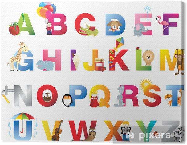 Complete childrens alphabet Canvas Print - Themes
