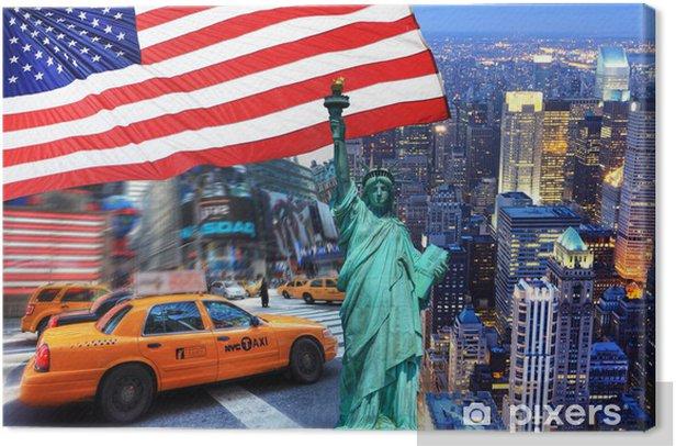 Composition New York. Canvas Print - Themes