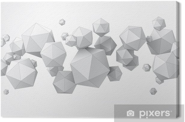 Composition of icosahedron for graphic design Canvas Print - Styles