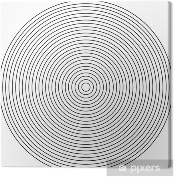 Concentric circle element on a white background Canvas Print - Graphic Resources