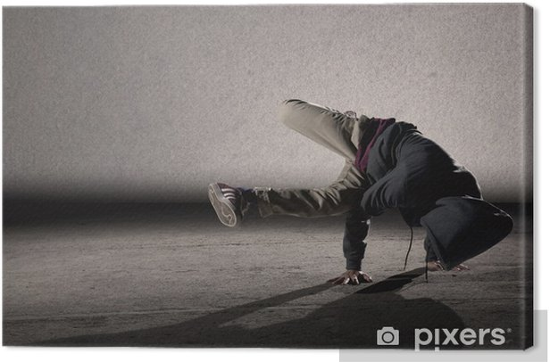 Cool breakdancing style Canvas Print - Themes