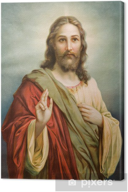 Copy of typical catholic image of Jesus Christ Canvas Print - Themes