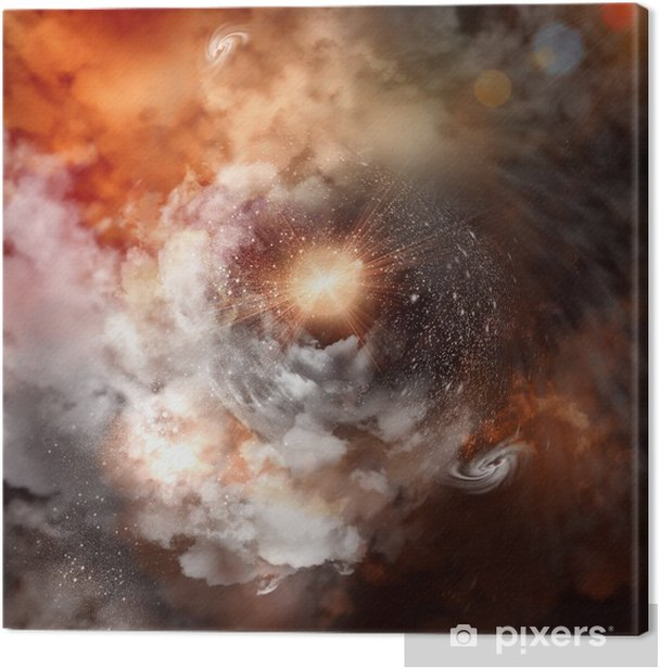 Cosmic clouds of mist Canvas Print - Themes