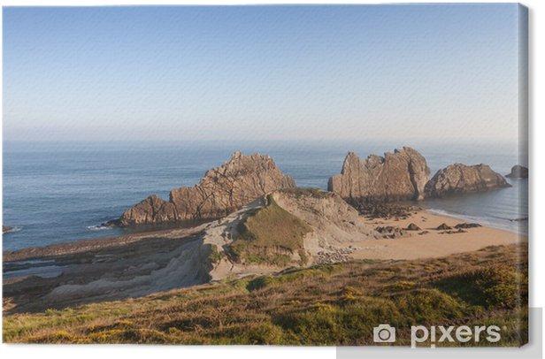 Costa Quebrada en Cantabria, España Canvas Print - Holidays