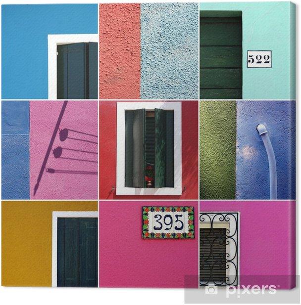couleurs de burano venise Canvas Print - European Cities