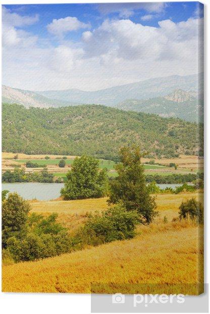 Countryland at valley Canvas Print - Seasons