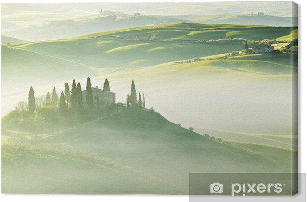 Countryside, San Quirico d´Orcia, Tuscany, Italy Canvas Print - Themes