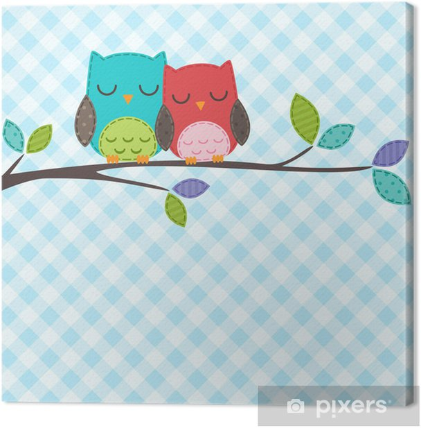 couple of owls Canvas Print - Themes