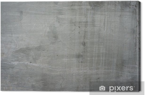 Cracked old gray cement concrete stone wall vintage dirty Canvas Print - Themes