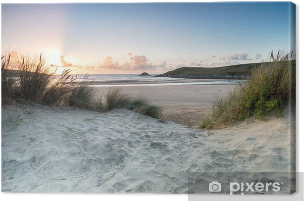 Crantock Beach Canvas Print - Water