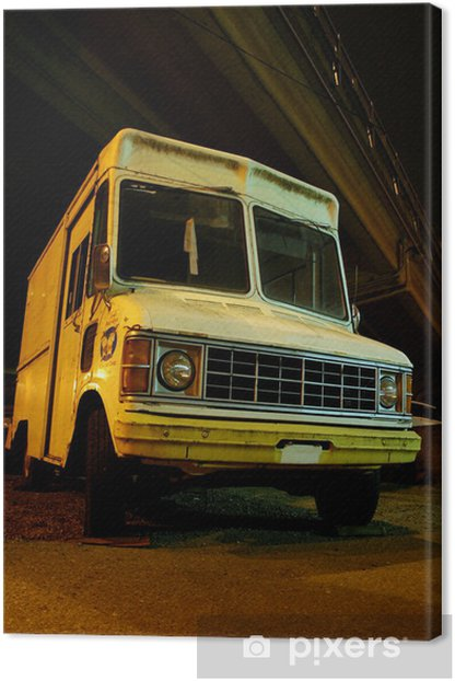 Creepy Ice Cream Truck Canvas Print - Life