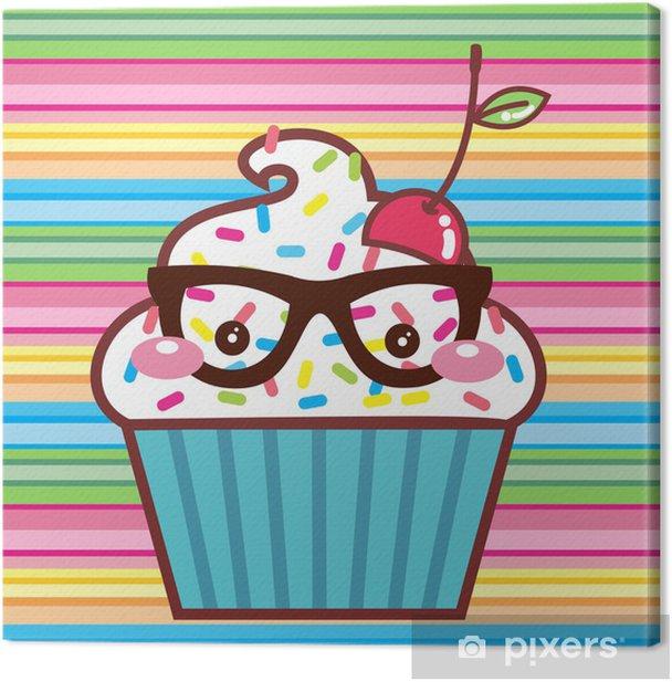 CupCake Kawaii Geek Canvas Print - Celebrations