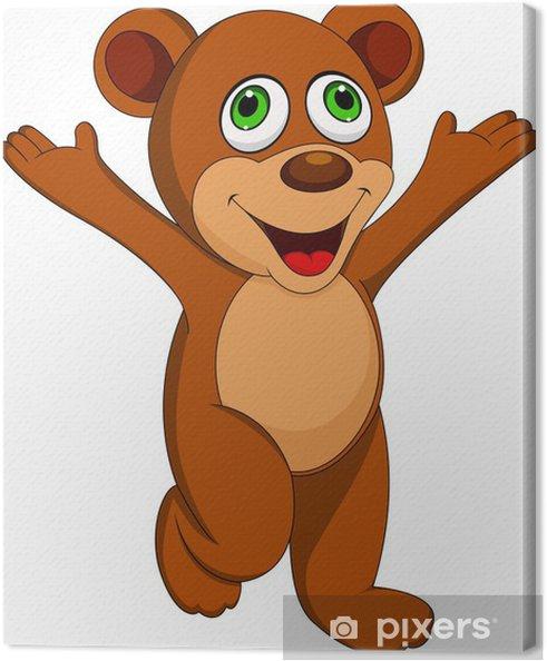 Cute bear cartoon canvas print u2022 pixers® u2022 we live to change