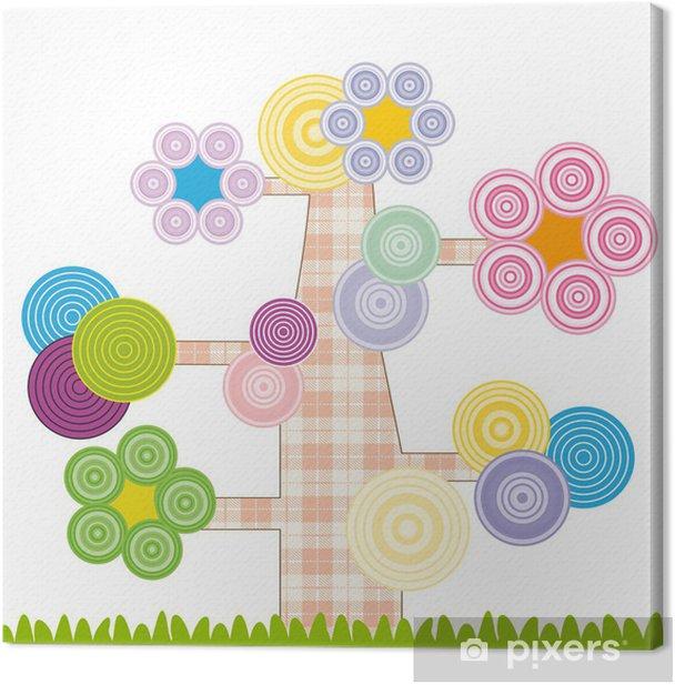 Cute kids card Canvas Print - Seasons