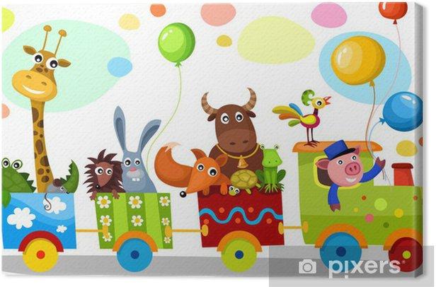 cute train Canvas Print - Preschooler