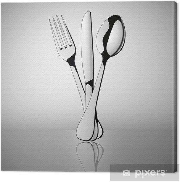 cutlery Canvas Print - Themes