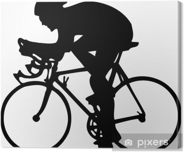cycler Canvas Print - Outdoor Sports