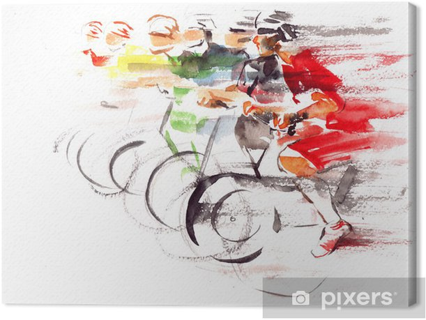 cycling Canvas Print - iStaging
