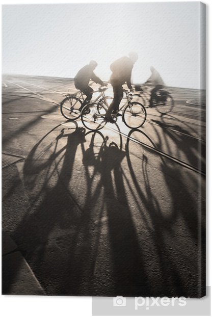 Cyclists Canvas Print - On the Road