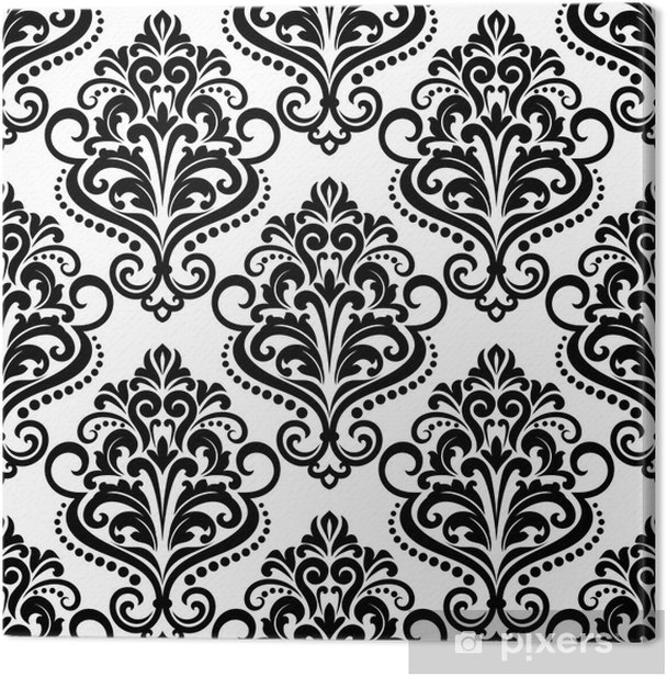 Damask seamless floral pattern Canvas Print - Backgrounds