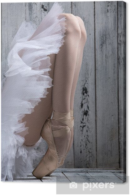 Dancer standing on his toes. Canvas Print - iStaging