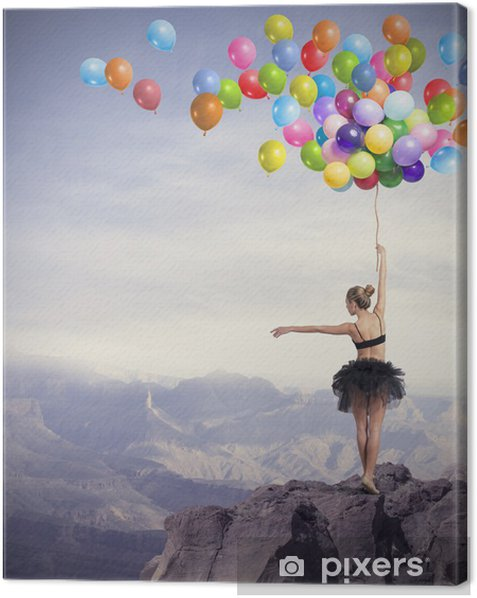 Dancer with balloons Canvas Print - Themes
